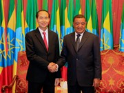 Presidents of Vietnam, Ethiopia hold talks