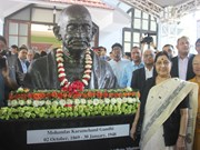 Mahatma Gandhi bust inaugurated in Hanoi