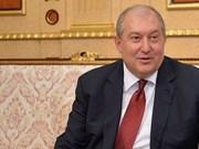 Armenian President appreciates relations with Vietnam