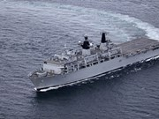 UK Royal Navy's ship HMS Albion visits Vietnam