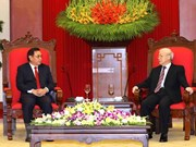 Laos vows to work with Vietnam to enhance bilateral ties