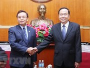 Vietnam, Laos foster cooperation in front work