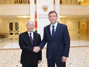 Party leader meets deputy speaker of Russian Federation Council