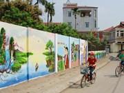 Flower roads in Hanoi's Dan Phuong district
