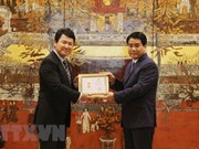 Japanese deputy ambassador honoured with Hanoi's insignia