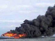 Indonesia: Ferry catches fire, killing at least 10