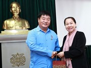 Trade Union Vice President receives Lao counterpart