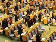 UN General Assembly hold minute's silence to remember VN President