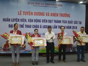 Da Nang rewards outstanding athletes at ASIAD 2018