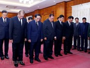 Lao delegations pay tribute to Vietnamese President in Champasak