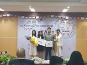 Vietnamese students triumph Francophone startup contest