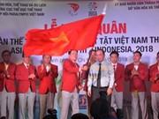 Vietnamese delegation departs for 2018 Asian Para Games