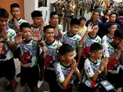 Thai boys' footballers to travel to thank world for rescue support