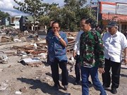 Indonesian President pays second visit to quake-hit area