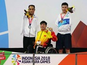 Vietnamese swimmer wins another gold medal at 3rd Asian Para Games