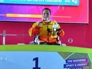Female weightlifter wins gold medal at Asian Para Games 2018