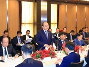 PM talks with Japanese real estate, financial firms