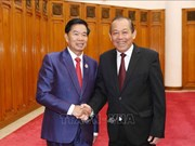 Deputy PM Truong Hoa Binh welcomes Vientiane Mayor