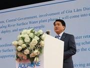 Hanoi inaugurates factory using Duong River's surface water