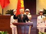 Party leader Nguyen Phu Trong becomes new President