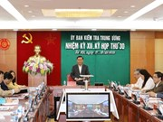 Party's Inspection Commission reveals outcomes of 30th session