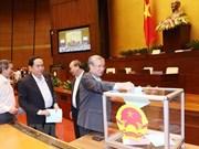 Legislators cast confidence votes on October 25