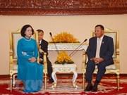 Cambodian Senate President receives Vietnamese Party official