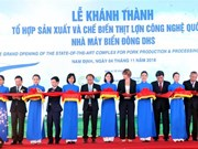 Hi-tech pig slaughterhouse opened in Nam Dinh