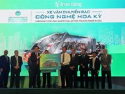 Eco-friendly waste treatment trucks presented to localities