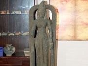 First Saraswati goddess statue found in Vietnam on display