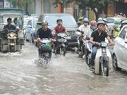 Hanoi's water drainage system overloaded