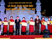 Phu Tho: 14 more Xoan singing artisans recognised