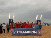 Vietnam champion ASEAN beach football tourney