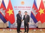 Vietnamese, Cambodian Deputy PMs hold talks