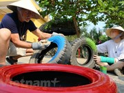 More recycled playground opened for kids in Hanoi
