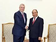 Prime Minister receives British Prince Andrew in Hanoi