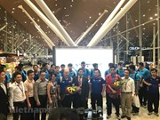 Vietnam's national football team welcomed in Malaysia