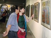 Vietnamese, Hungarian paintings on display in HCM City