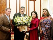 Vice President receives SOS Children's Villages International leader