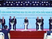 Nghi Son oil refinery-petrochemical plant begins commercial operation