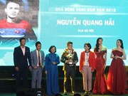 Vietnamese outstanding footballers in 2018 honoured