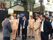 Minister inspects helmet safety programme for children in Hanoi