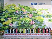 Mural paintings on lotus at Noi Bai International Airport inaugurated