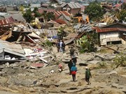 Indonesia hastens construction of temporary houses for tsunami victims