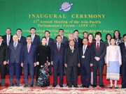 Asia-Pacific Parliamentary Forum convenes 27th annual meeting