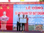 Soc Trang's island commune recognized as new-style rural area