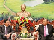 Lao leader receives HCM National Academy of Politics delegation