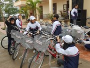 330 bicycles presented to poor students in northern region