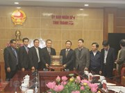 Lao News Agency delegation visits Thanh Hoa province