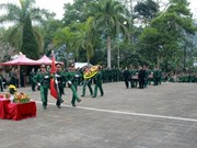 Remains of 11 unknown martyrs reburied in Ha Giang's cemetery